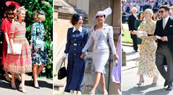 Wedding guests at the wedding of Meghan Markle and Prince Harry. PRESS ASSOCIATION Photo. Picture date: Saturday May 19, 2018.