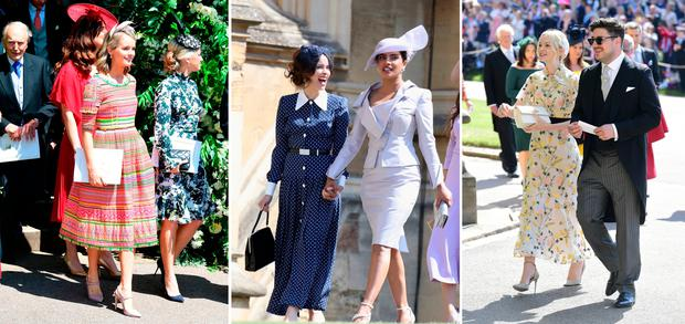 ec2b8b7932fa Wedding guests at the wedding of Meghan Markle and Prince Harry. PRESS  ASSOCIATION Photo.