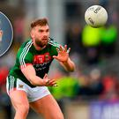 Paul Galvin (inset) gets frustrated watching Mayo's attack