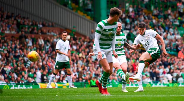 Watch: Alan Browne and Callum O'Dowda on target for Ireland at Parkhead
