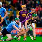 20 May 2018; Aidan Nolan of Wexford in action against Fergal Whitely of Dublin during the Leinster GAA Hurling Senior Championship Round 2 match between Wexford and Dublin at Innovate Wexford Park in Wexford. Photo by Daire Brennan/Sportsfile