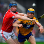 20 May 2018; John Conlon of Clare in action against Conor Lehane of Cork during the Munster GAA Hurling Senior Championship Round 1 match between Cork and Clare at Páirc Uí Chaoimh in Cork. Photo by Brendan Moran/Sportsfile