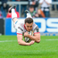 20 May 2018; Jacob Stockdale of Ulster score his side's fouth try during the Guinness PRO14 European Play-Off match between Ulster and Ospreys at Kingspan Stadium in Belfast. Photo by John Dickson/Sportsfile