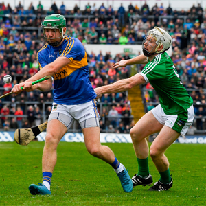 20 May 2018; Noel McGrath of Tipperary in action against Cian Lynch of Limerick during the Munster GAA Hurling Senior Championship Round 1 match between Limerick and Tipperary at the Gaelic Grounds in Limerick. Photo by Ray McManus/Sportsfile