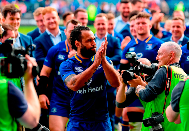 Isa Nacewa says farewell to the RDS. Photo: Stephen McCarthy/Sportsfile