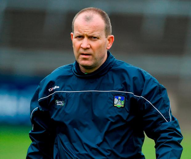 Limerick football manager Billy Lee vented his fury at the county board over an administration oversight and no food being provided to his players midweek. Photo by Piaras Ó Mídheach/Sportsfile