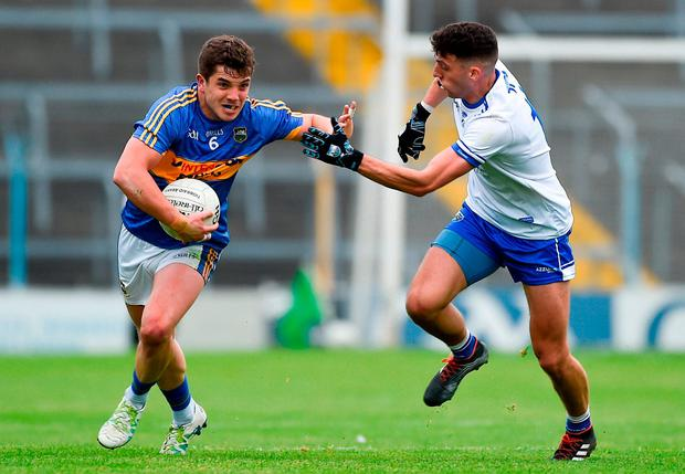 Robbie Kiely of Tipperary in action against Shane Ryan of Waterford. Photo by Daire Brennan/Sportsfile