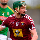 Westmeath's Niall O'Brien scoring on 16 minutes to cancel out an early Kerry 0-3 to 0-1 lead.. Photo: Sam Barnes/Sportsfile
