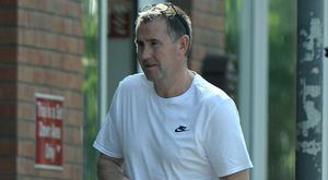 Christy Griffin pictured going about his business in Dublin (pics courtesy the Sunday World)