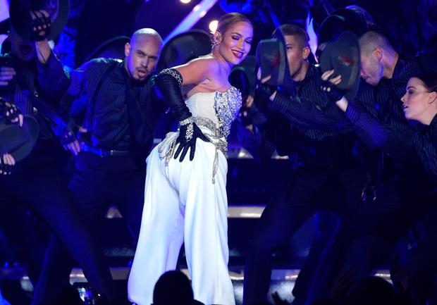 Jennifer Lopez performs