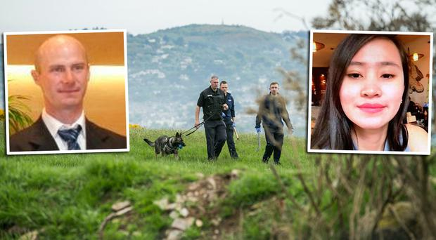 The search for Jastine Valdez (left) who is believed to have been abducted by Mark Hennessy (right).
