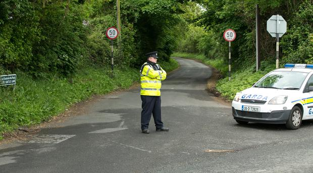 Pucks Castle Lane,Rathmichael sealed off by gardai