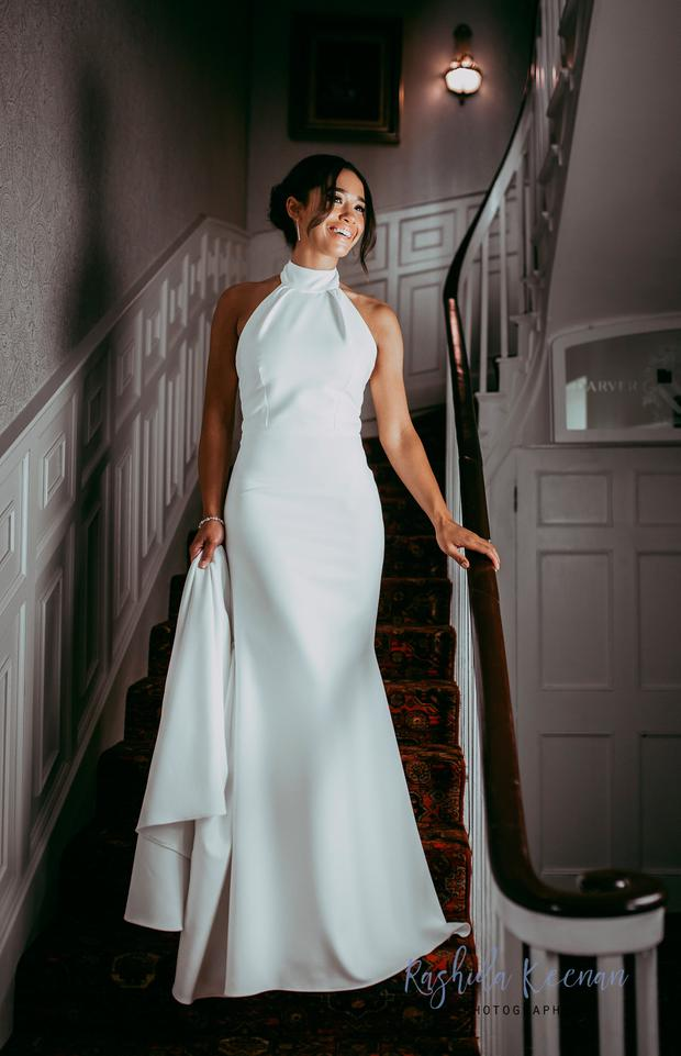Irish designer Shauna Fay replicated the royal reception dress just 24 hours after the big day | Photo by Rashida Keenan