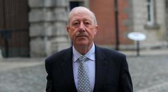 Former Garda Commissioner Martin Callinan at the Disclosures Tribunal at Dublin Castle, Dublin