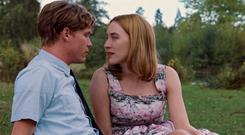 Billy Howle and Saoirse Ronan in On Chesil Beach
