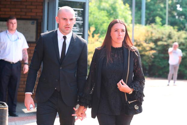 Republic of Ireland footballer Darron Gibson leaving South Tyneside Magistrates' Court where he was given a two-year community order and banned from driving for 40 months after he admitted drink driving. Owen Humphreys/PA Wire