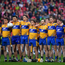 20 May 2018; The Clare team stand for the National Anthem prior to the Munster GAA Hurling Senior Championship Round 1 match between Cork and Clare at Páirc Uí Chaoimh in Cork. Photo by Brendan Moran/Sportsfile