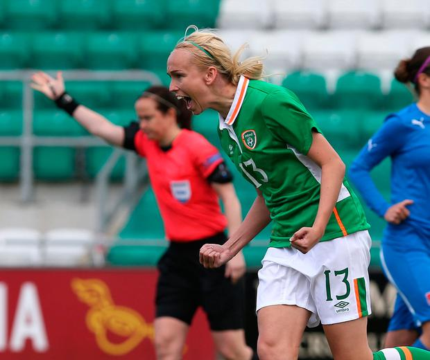 Stephanie Roche in action for Ireland. Photo: Damien Eagers