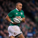 18 March 2017; Simon Zebo of Ireland during the RBS Six Nations Rugby Championship match between Ireland and England at the Aviva Stadium in Lansdowne Road, Dublin. Photo by Brendan Moran/Sportsfile