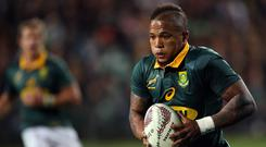 Jantjies (27) has played 23 times for his country. Photo: AFP/Getty Images