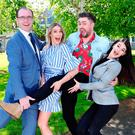 From left: 'Dancing with the Stars' judge Brian Redmond, RTÉ presenter Bláthnaid Treacy, social media star James Patrice and professional dancer Karen Byrne at the launch of 'A Single Step Leads to the Biggest Change' yesterday. Photo: Marc O'Sullivan
