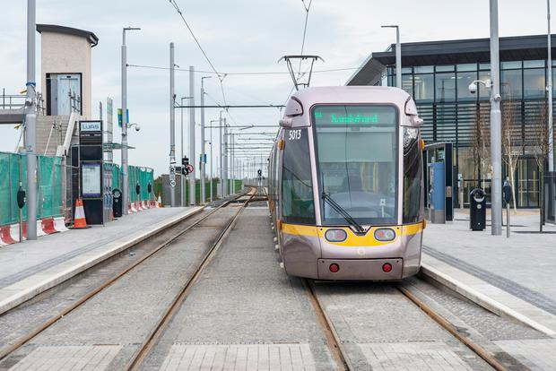 The new cross-city Luas has been the cause of traffic jams in the city centre