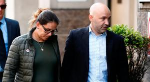 Marcio and Andreia Gomes, parents of stillborn infant Logan, arrive for the commemoration hearing at the opening of the inquiry into the Grenfell Tower disaster in London. Photo: Reuters