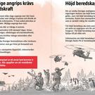 'Be prepared for war' leaflet. Photo: DinSäkerhet.se