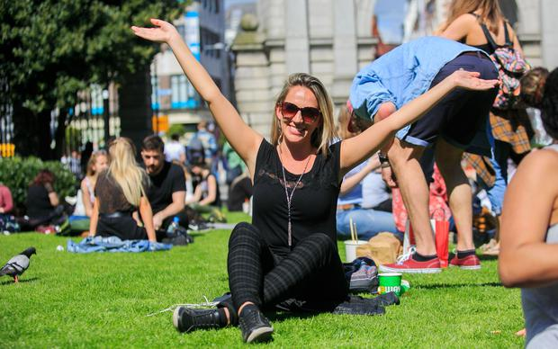 A warm and sunny weekend is on the way, according to Met Eireann Photo Gareth Chaney Collins