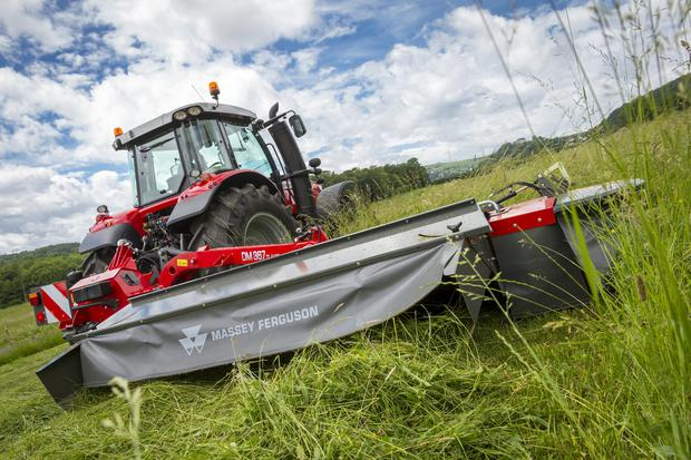 Those attending Grass & Muck also saw Massey Ferguson mowers, rakes and tedders working in the demo areas.