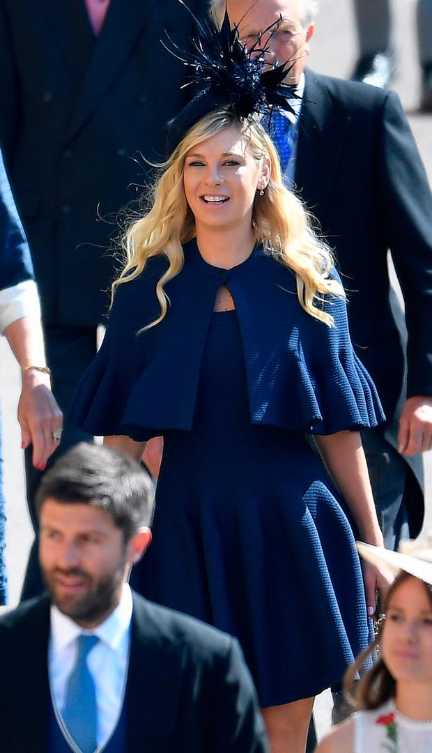 Chelsy Davy arrives at Windsor Castle for the wedding of Prince Harry and Meghan Markle