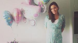 Louise Duffy celebrating her baby shower. Picture: Instagram