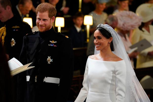 Prince Harry and Meghan Markle in St George's Chapel at Windsor Castle during their wedding service Windsor, Britain May 19, 2018. Jonathan Brady/Pool via REUTERS