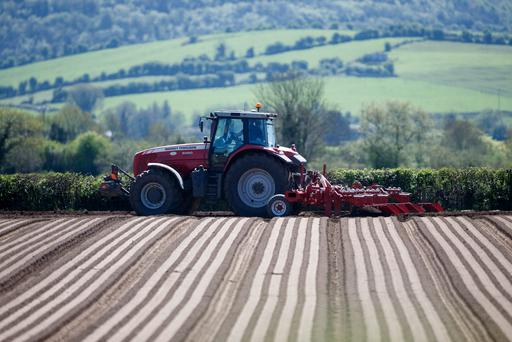 Tim Davies ridging the headland for carrot beds for Leo Dunne, Durrow on the land of Seamus Duggan, Durrow, Co. Laois on Sunday 6 May 2018. Picture: Alf Harvey.