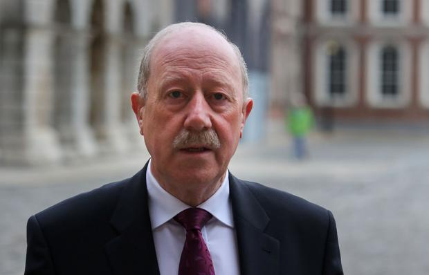 Former Garda Commissioner Martin Callinan at the Disclosures Tribunal at Dublin Castle