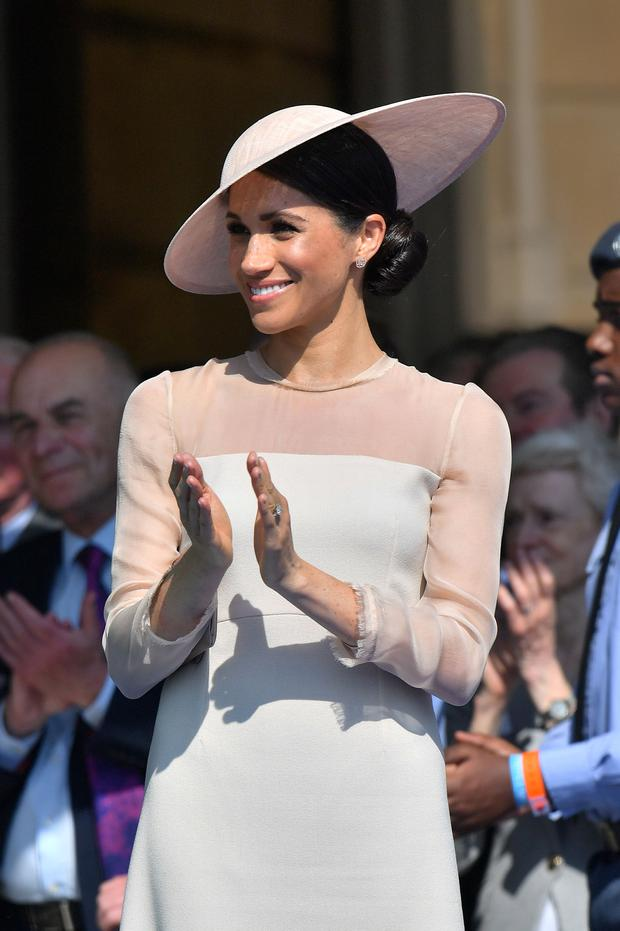 Meghan attends a garden party at Buckingham Palace, in London, Britain May 22, 2018. Dominic Lipinski/Pool via Reuters