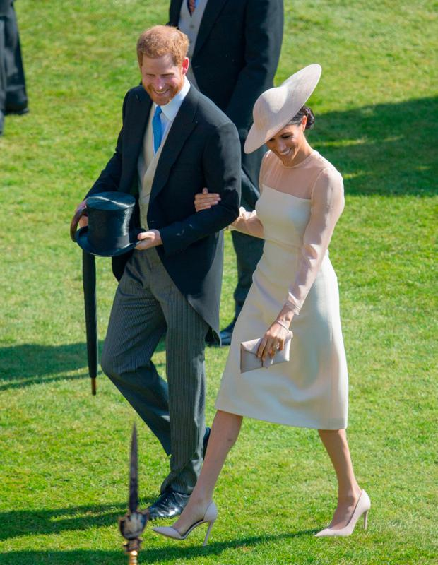 Prince Harry, Duke of Sussex and Meghan, Duchess of Sussex attend The Prince of Wales' 70th Birthday Patronage Celebration held at Buckingham Palace on May 22, 2018 in London, England. (Photo by Ian Vogler-WPA Pool/Getty Images)