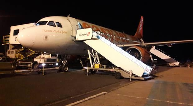 Delayed easyjet flight from Gatwick to Belfast