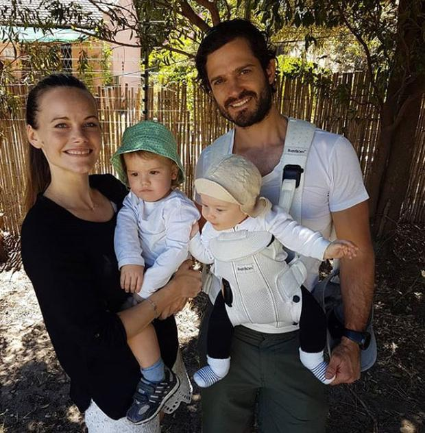 Sweden's Prince Carl Philip and Princess Sofia with their sons Prince Gabriel and Prince Alexander. Picture: Instagram