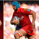 Ross Byrne (left) and Tadhg Beirne (right).