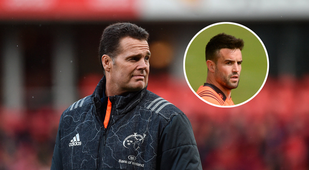 Former Munster Director of Rugby Rassie Erasmus and Conor Murray (inset).