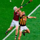 John Hanbury and Colin Fennelly may renew their rivalry when Galway take on Kilkenny at Pearse Stadium on Sunday. Photo: Sportsfile