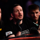 12 May 2018; SBG coach John Kavanagh during the middleweight bout between Kiefer Crosbie and Josh Plant at BAMMA 35 at the 3 Arena in Dublin. Photo by David Fitzgerald/Sportsfile