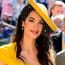 Amal managed to pack a serious punch in her Stella McCartney gown, thanks to its sun-ready shade of goldenrod. Photo: Reuters