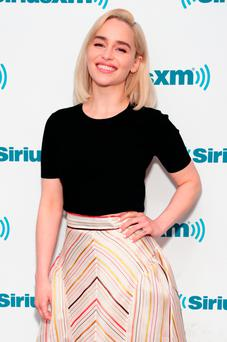 Emilia Clarke takes part in SiriusXM's Town Hall with the cast ofÊSolo: A Star Wars Story hosted by SiriusXM's Dalton Ross at SiriusXM Studios on May 21, 2018 in New York City. (Photo by Cindy Ord/Getty Images for SiriusXM)