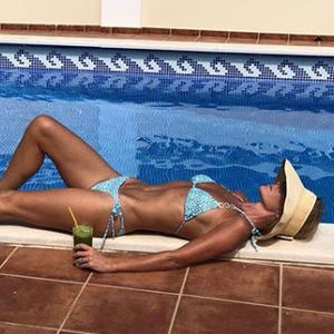 Amanda Holden shared this bikini picture on holidays. Picture: Instagram