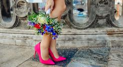 Stock image cerise pink wedding shoes by Sladjana Karvounis