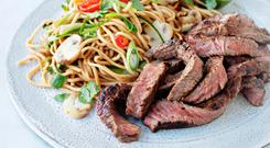 Máire Dufficy's Asian Flavoured Beef with Noodle Salad