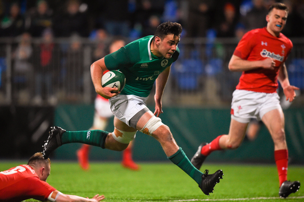 23 February 2018; Jack O'Sullivan of Ireland during the U20 Six Nations Rugby Championship match between Ireland and Wales at Donnybrook Stadium in Dublin. Photo by David Fitzgerald/Sportsfile