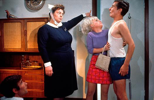 It's an enigma: Hattie Jacques, Barbara Windsor and Kenneth Williams in Carry on Doctor